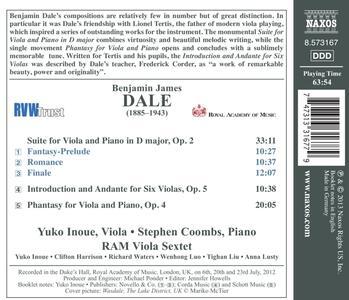 The Romantic Viola - CD Audio di Benjamin Dale - 2