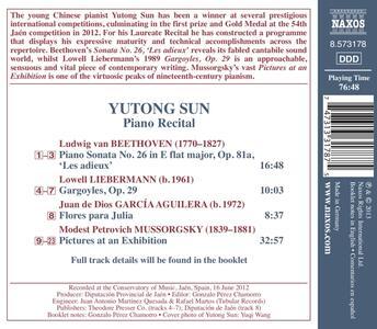 Piano Recital - CD Audio di Yutong Sun - 2