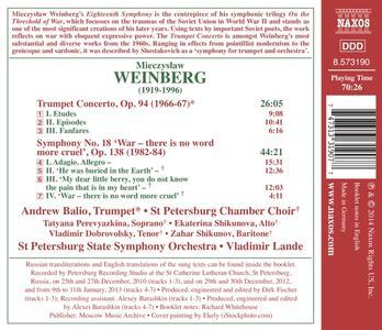 Sinfonia n.18 - Concerto per tromba - CD Audio di Mieczyslaw Weinberg - 2