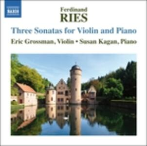 3 Sonate per Violino - CD Audio di Ferdinand Ries
