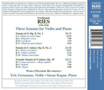 3 Sonate per Violino - CD Audio di Ferdinand Ries - 2
