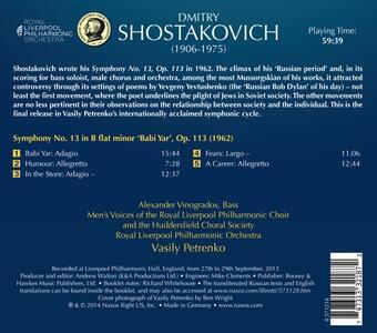 Sinfonia n.13 - CD Audio di Dmitri Shostakovich - 2