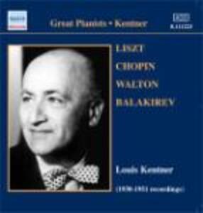 Recordings 1938-1951 - CD Audio di Fryderyk Franciszek Chopin,Franz Liszt,William Walton,Mily Alexeyevich Balakirev,Louis Kentner