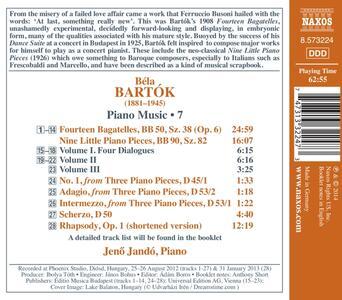 Opere per pianoforte vol.7 - CD Audio di Bela Bartok - 2