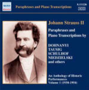 Parafrasi e trascrizioni per pianoforte - CD Audio di Johann Strauss