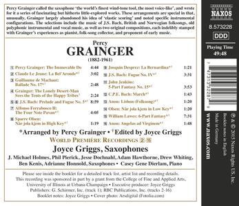 Musica per Sassofoni - CD Audio di Percy Grainger - 2