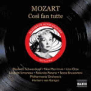 Così fan tutte - CD Audio di Wolfgang Amadeus Mozart,Herbert Von Karajan,Elisabeth Schwarzkopf,Leopold Simoneau,Lisa Otto,Philharmonia Orchestra