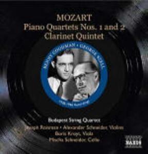 Quintetti con pianoforte n.1, n.2 - Quintetto con clarinetto - CD Audio di Wolfgang Amadeus Mozart