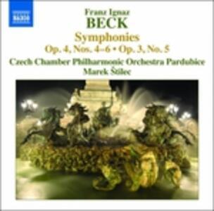 Sinfonie op.4 n.4, n.5, n.6, op.3 n.5 - CD Audio di Franz Ignaz Beck