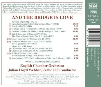 And the Bridge is Love. Musica inglese per archi - CD Audio di Julian Lloyd Webber,English Chamber Orchestra - 2