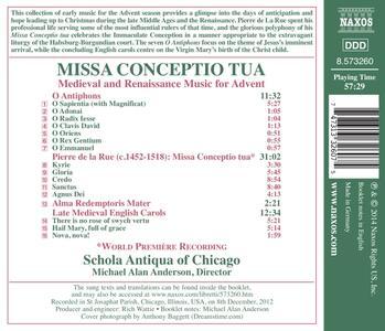 Missa Conceptio tua. Opere medievali e rinascimentali per l'Avvento - CD Audio - 2