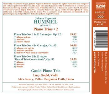 Trii per Archi e Pianoforte vol.2 - CD Audio di Johann Nepomuk Hummel,Gould Piano Trio - 2