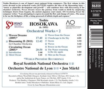 Opere Orchestrali vol.2 - CD Audio di Toshio Hosokawa,Jun Märkl - 2