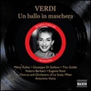 Un ballo in maschera - CD Audio di Maria Callas,Giuseppe Di Stefano,Tito Gobbi,Giuseppe Verdi,Orchestra del Teatro alla Scala di Milano,Antonino Votto