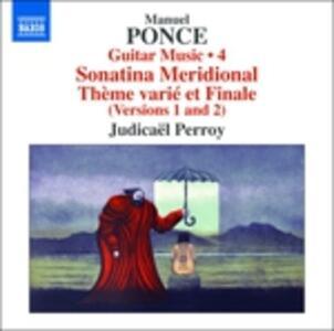 Opere per chitarra vol.4 (Integrale) - CD Audio di Manuel Maria Ponce