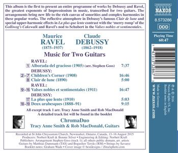 Musica per due chitarre - CD Audio di Claude Debussy,Maurice Ravel - 2