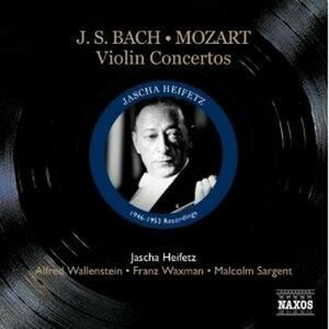 Concerti per violino BWV1041, BWV1042 - Concerto per 2 violini BWV1043 / Concerto per violino n.5 - CD Audio di Johann Sebastian Bach,Wolfgang Amadeus Mozart,Jascha Heifetz,London Symphony Orchestra,Los Angeles Philharmonic Orchestra,RCA Victor Chamber Orchestra,Malcolm Sargent,Alfred Wallenstein