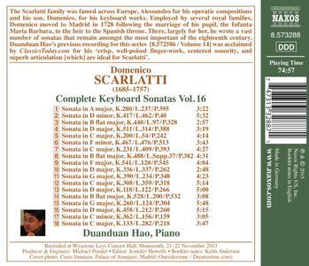 Sonate per Tastiera vol.16 - CD Audio di Domenico Scarlatti - 2
