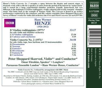 Concerto per violino n.2 - Il Vitalino raddoppiato - CD Audio di Hans Werner Henze - 2