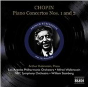 Concerti per pianoforte n.1, n.2 - CD Audio di Fryderyk Franciszek Chopin,Arthur Rubinstein,NBC Symphony Orchestra,Los Angeles Philharmonic Orchestra,William Steinberg,Alfred Wallenstein