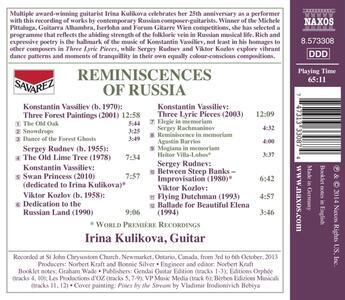 Reminiscences of Russia - CD Audio di Irina Kulikova - 2