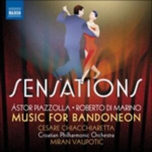 Sensations. Musica per bandoneon - CD Audio di Astor Piazzolla,Roberto Di Marino