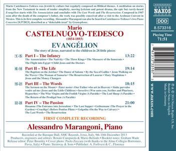 Evangélion. La storia di Gesù - CD Audio di Mario Castelnuovo-Tedesco,Alessandro Marangoni - 2
