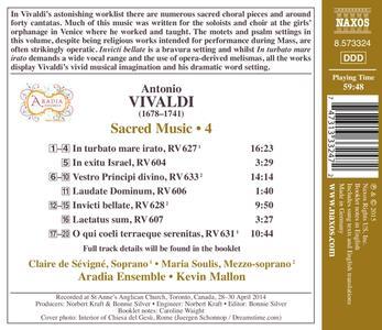 In Turbato Mare Irato. Musica sacra vol.4 - CD Audio di Antonio Vivaldi - 2