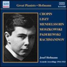 Registrazioni acustiche 1916-1923 - CD Audio di Josef Hofmann