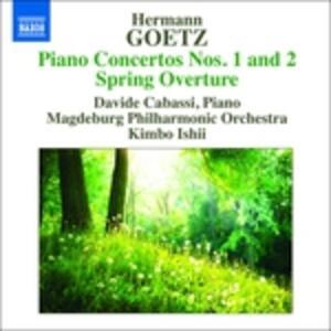 Concerti per pianoforte n.1, n.2 op.18 - CD Audio di Hermann Goetz