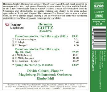 Concerti per pianoforte n.1, n.2 op.18 - CD Audio di Hermann Goetz - 2