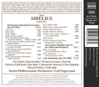 Jedermann op.53 - Melodie op.77 - In memoriam - CD Audio di Jean Sibelius - 2