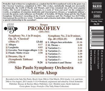 Sinfonie n.1, n.2 - CD Audio di Sergej Sergeevic Prokofiev - 2