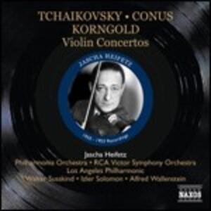Concerti per violino - CD Audio di Pyotr Il'yich Tchaikovsky,Erich Wolfgang Korngold,Pablo de Sarasate,Julius Conus,Jascha Heifetz