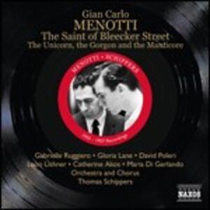 The Saint of Bleecker Street - CD Audio di Giancarlo Menotti