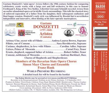 Aristea - CD Audio di Gaetano Donizetti - 2