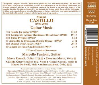 Opere per chitarra - CD Audio di Manuel Castillo - 2