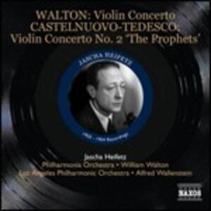 Concerti per violino - CD Audio di Camille Saint-Saëns,Christian Sinding,Mario Castelnuovo-Tedesco,William Walton,Jascha Heifetz