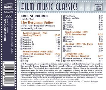 The Bergman Suites - CD Audio di Pehr Henrik Nordgren - 2