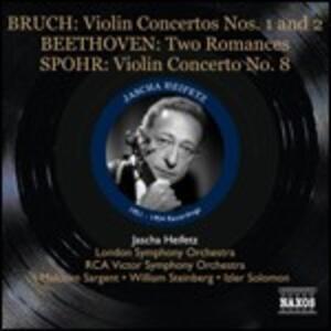 Concerto per violino n.1 / Romanze n.1, n.2 / Concerto per violino n.8 - CD Audio di Ludwig van Beethoven,Max Bruch,Louis Spohr,Jascha Heifetz