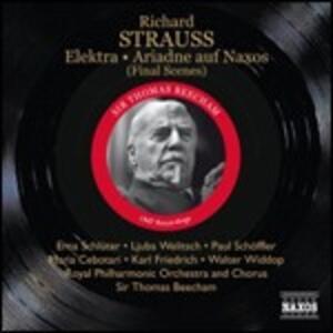 Elektra (Scena finale) - Arianna a Nasso (Scena finale) - CD Audio di Richard Strauss,Sir Thomas Beecham,Royal Philharmonic Orchestra