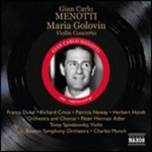 Maria Golovin - Concerto per violino - CD Audio di Charles Munch,Giancarlo Menotti,Boston Symphony Orchestra