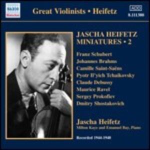 Miniatures vol.2 1944-1948 - CD Audio di Jascha Heifetz