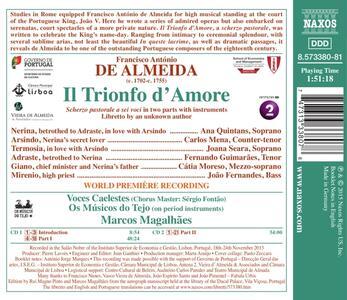 Il trionfo d'Amore - CD Audio di Francisco Antonio de Almeida - 2
