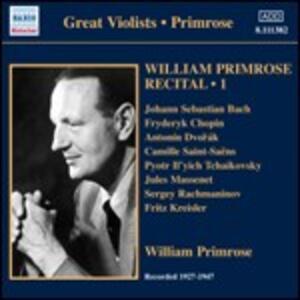 Recital vol.1 1939-1947 - CD Audio di William Primrose