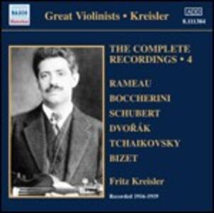 Integrale delle registrazioni vol.4 - CD Audio di Fritz Kreisler