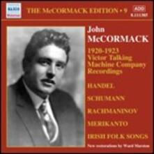 Victor Talking Machine Company Recordings 1920-1923 - CD Audio di John McCormack