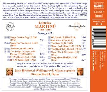 The Rose. Lieder vol.3 - CD Audio di Bohuslav Martinu - 2