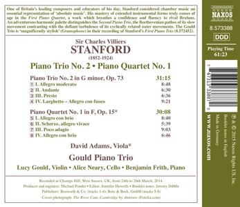 Trii con pianoforte n.1, n.2 - CD Audio di Sir Charles Villiers Stanford,Gould Piano Trio - 2