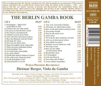 The Berlin Gamba Book - CD Audio di Dietmar Berger - 2